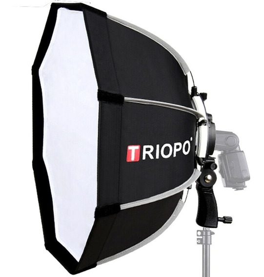 Softbox Octagonal Triopo 65cm Para Flash Com Empunhadura