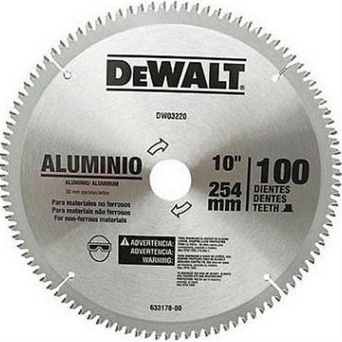 Lâmina De Serra Esquadria Aluminio 10 100 Dentes Dewalt