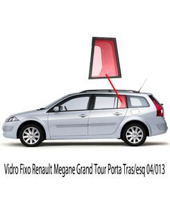 Vidro Fixo Renault Megane Grand Tour Porta Tras/esq 04/013