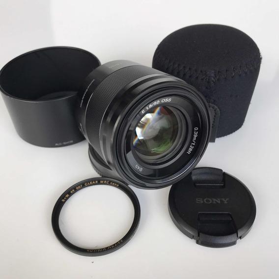 Lente Sony 50mm F1.8 Sel50f18 Oss Impecável Para A6500