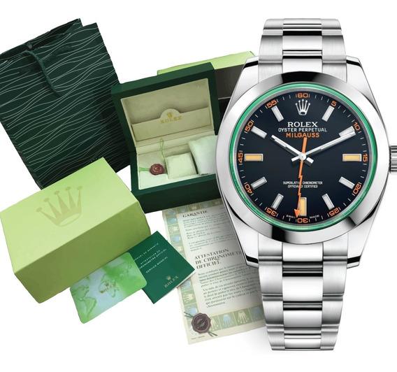 Reloj Rolex Milgauss Cara Negra Automático C/caja