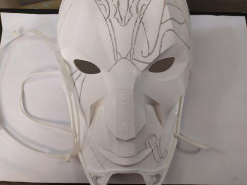 Imagen 1 de 6 de Máscara Jhin El Vituoso League Of Legends- Cosplay Halloween
