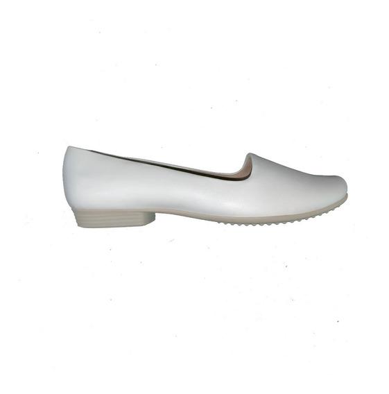 Sapato Piccadilly Enfermagem 250132 Feminino Branco Prata