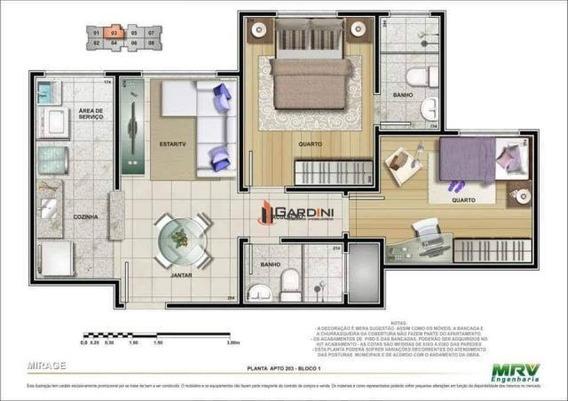 Apartamento Para Locação Em Mogi Das Cruzes, Mogi Moderno, 2 Dormitórios, 1 Banheiro, 1 Vaga - Apl164