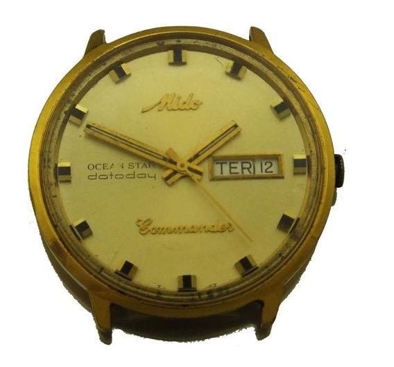 Relógio De Pulso Mido Commander Ocean Star Aço E Ouro J22260