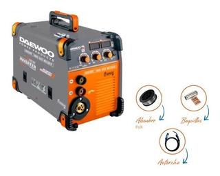 Maquina Soldar Inverter 2 En 1 Mig Mma 180amp Daewoo Flux