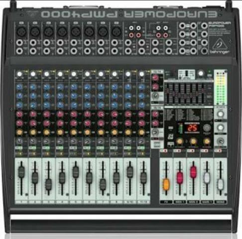 Mesa Mixer Behringer Europower - Pmp 4000 + 2 Caixas Brinde