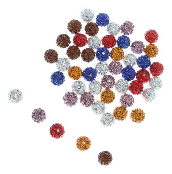 50pcs Argila Cristal Imitação De Diamante Pavimentar Redon