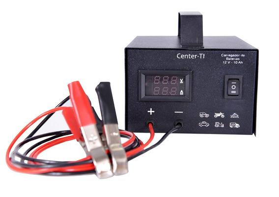 Carregador Baterias Veicular Lento Rápido Voltímetro 12 V