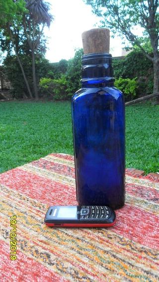 Linda Antigua Botella Frasco Azul Cobalto Bagna Nas Sales Ef