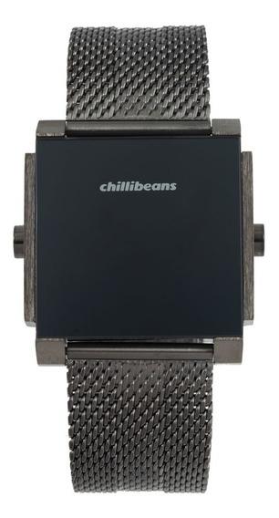 Relógio Digital Masculino Chilli Beans Metal Quadrado Grafit