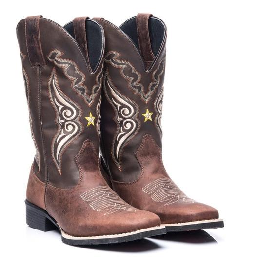 Bota Texana Country Masculina Bic Quadrad Cour Xerife