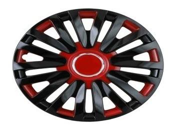 Taza Juego Universal Rodado 13 18 Rayos Negro Y Rojo