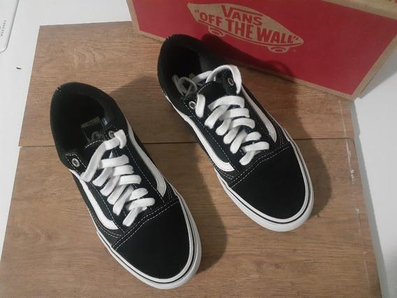 Tênis Vans Old Skool Pro Original Black/white Usado Nº36