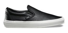 Vans Classic Slip-on Embossed Leather Black
