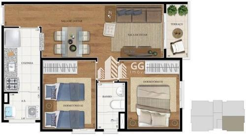 Imagem 1 de 9 de Apartamento Em Condomínio No Bairro Vila Conceição, 2 Dorms, 1 Vaga, 50 M² - 73