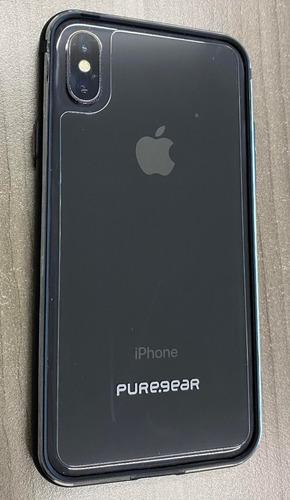 Imagen 1 de 5 de iPhone X 64 Gb Negro Case Puregear 360 Cristal