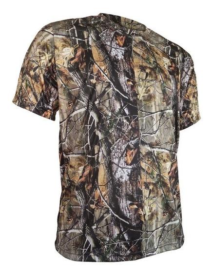 Camiseta Curta Realtree Camuflada Airsoft Caça Pcp Pesca