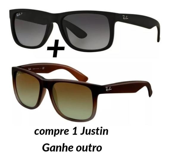 Kit 2 Óculos De Sol Justin Rayban Luxo