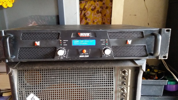 Amplificador Potencia Novik 2500 Em 4 Ohms