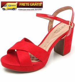 Sandália Beira Rio Vermelha