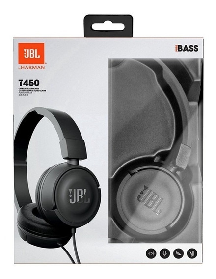 Fone Headphone Jbl T450 Preto On Ear