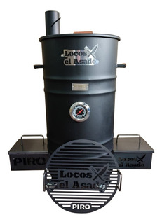 Parrilla Ahumador Piro Locos X El Asado Tambor Leña Smoke