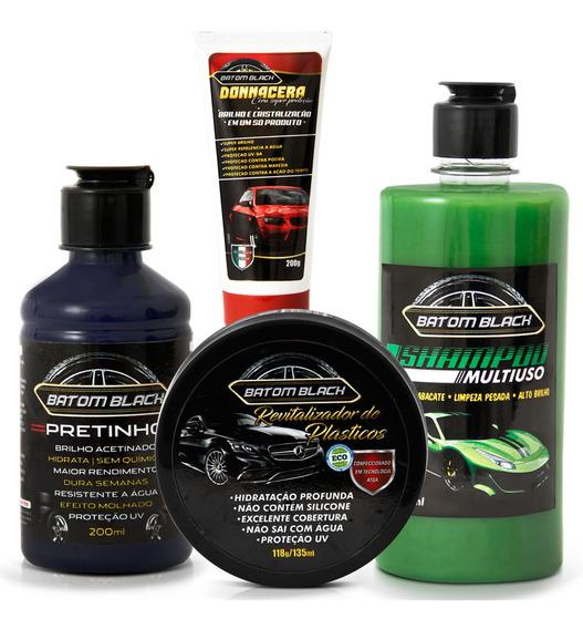 Pretinho Resistente Agua + Pincel + Ceras + Shampoo Multiuso