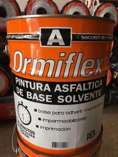 Pintura Asfáltica Ormiflex Secado Ultra Rápido