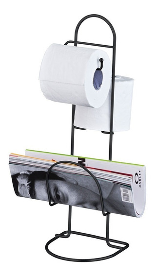 Porta Papel Higiênico Revisteiro Suporte Chão Cores Aço Porta Banheiro Lavabo 2 Rolos E Revistas Passerini Nota Fiscal