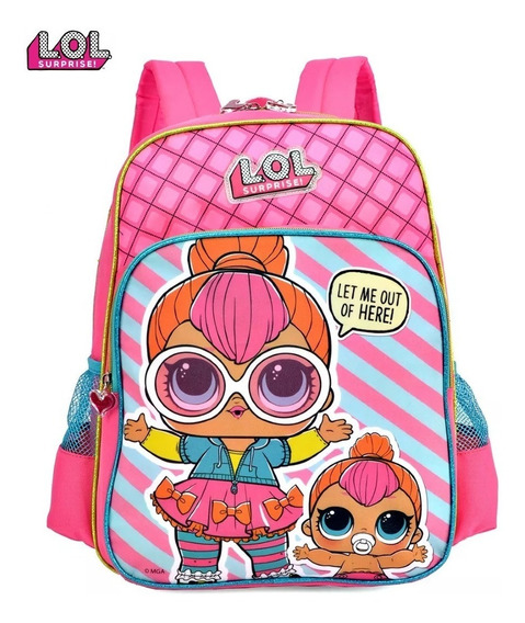 Mochila Escolar Lol Surprise Infantil Original - Luxcel