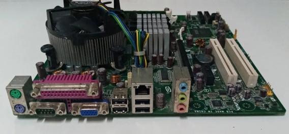 Kit Placa Mãe Intel Ices-003 Class B + Processador E Memoria