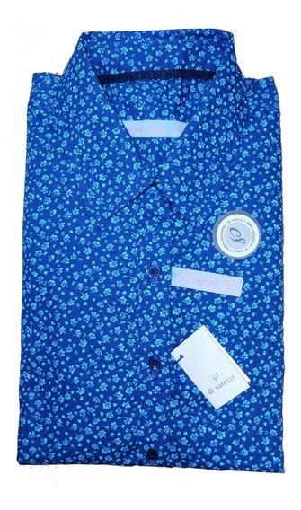 Camisa Mujer Di Varezzi Puro Algodón Estampado Manga Larga