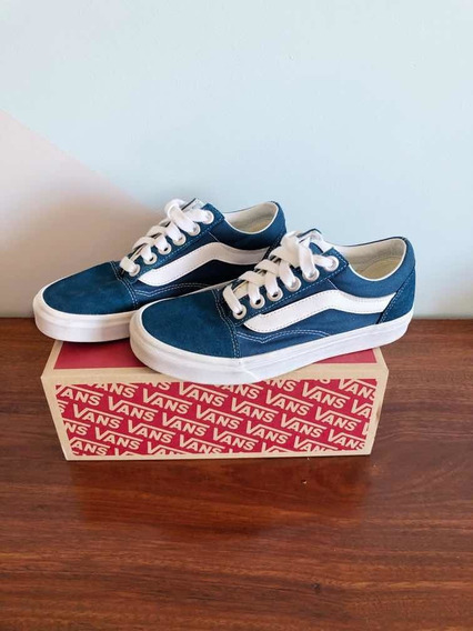 Tênis Vans Old Skool Os Unissex - Azul Tamanho 38