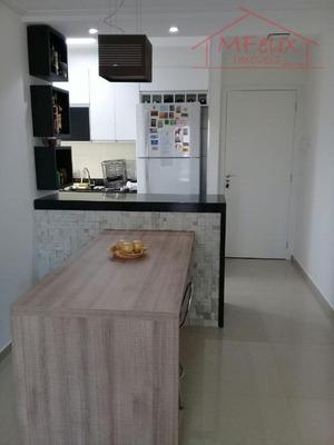 Apartamento 2 Dorms (1 Suíte), 56m², Todo Planejado, Com Varanda Grill. - Ap0889