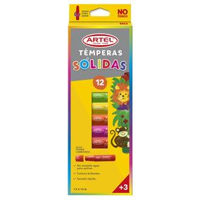 Témpera Sólida 12 Colores Artel