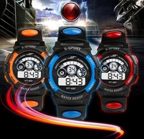 Relógio S Sport Digital Led Alarme Estilo Militar Infantil