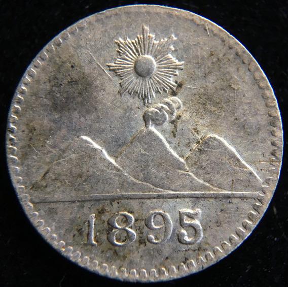 Guatemala, 1/4 Real, 1895. Plata. Sin Circular