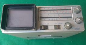 Micro Tv P&b E Rádio (am Fm Sw) Broksonic Cirt2097t (sucata)