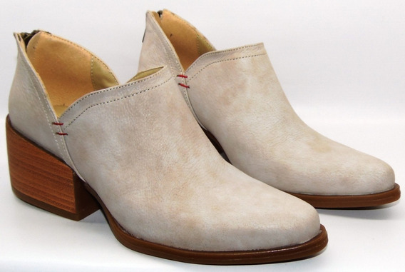 Zapatos Mujer Cuero Botinetas Charritos Texan Art 1193