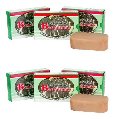 Imagem 1 de 1 de Kit Com 6 Sabonetes De Barbatimão- 100% Glicerinado - 90gr