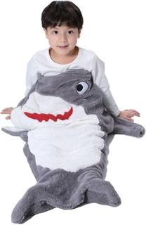 Manta Saco De Dormir Bouton Infantil Baleia Tubarão Sereia