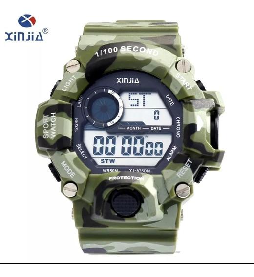 Relógio Masculino Xinjia Camuflado