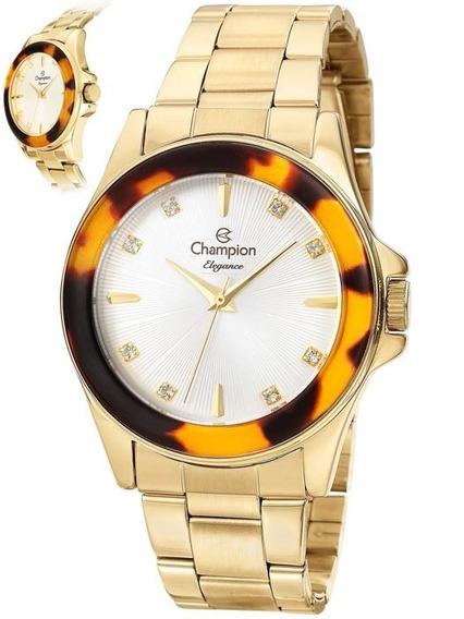 Relógio Champion Feminino Dourado Cn27456w