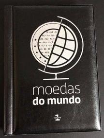 Álbum Moedas Do Mundo + 3 Moedas De Brinde + Etiquetas