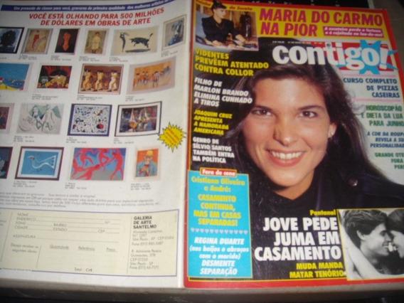 Contigo 767 5/90 - Cristiana Oliveira / Gloria Pires / Xuxa