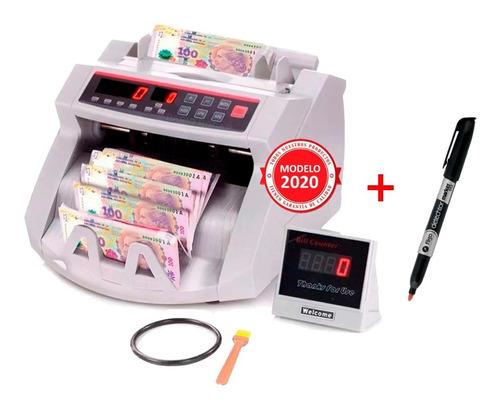 Contadora De Billetes Máquina Detector Falsos + Lapiz Tester