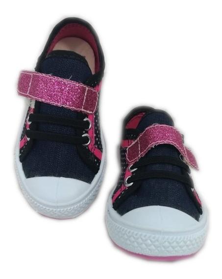 Tênis Infantil Poá Pink Star Chic