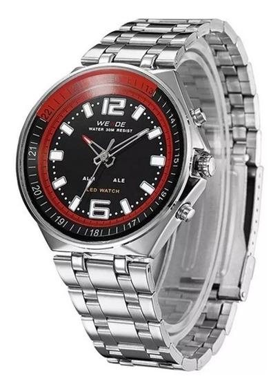 Relógio Masculino Weide Anadigi Wh-849 Preto Com Nf