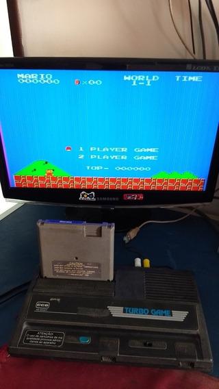 Turbo Game Funcionando + Super Mario, Sem Controle E Cabo Av